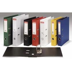 Lever Arch File PVC A4 Black [Pack 10]